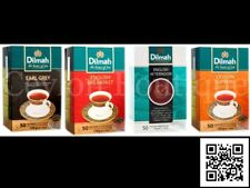 Dilmah Earl Grey, Ceylon Supreme, English Breakfast & Afternoon Ceylon Tea Bags