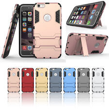 Hard Hybrid Shockproof Rubber Silicone Cover Case with Stand For iPhone6S Plus