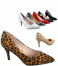 Women's Sexy Classic 9 Color Pointed Toe Patent Pump Heels Shoes Size 5 - 10 NEW