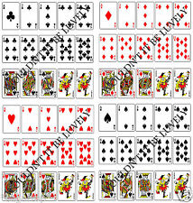 FULL SIZE EDIBLE PLAYING CARDS Icing / Rice Paper FULL DECK Cake Decorate Topper