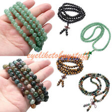 """High Quality Natural Gemstone Beads Dual-use Necklace Bracelet Jewelry 34""""L Gift"""