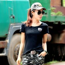 Outdoor Camouflage Military Tops Tee Summer Casual Short Sleeve T-shirt Blouse