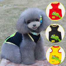 Pet Puppy T Shirt Summer Small Dog Cat Pet Doggy Cute Clothes Vest Apparel S-XXL