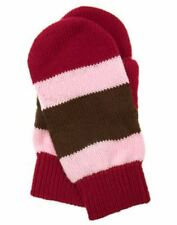 Gymboree NWT 3T 4T 3 4 Years Sweet Treats Pink Red Brown Stripe Mittens Gloves