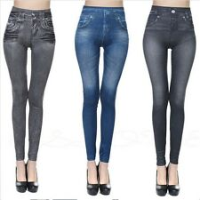 Sexy Women Skinny Jeggings Stretchy Leggings Jeans Pencil Tight Trousers