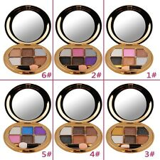 Shine 6-color Eye Shadow Palette Make Up Powder Eyeshadow Cosmetic Tool