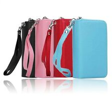 Luxury PU Leather Purse Zipper Wallet Case Card Cash Holder For iPhone 6/6S HG