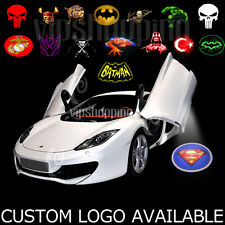 2pcs Car Door Courtesy Welcome LED CREE Logo Projector Laser Ghost Shadow Light