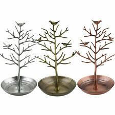 Retro Bird Tree Jewelry Ears  Stand Holder Show Rack Necklace Display BN