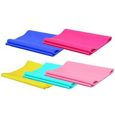 1.2m Elastic Yoga Pilates Rubber Stretch Exercise Band Arm Back Leg Fitness BN