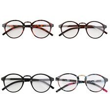 Retro Geek Vintage Nerd Large Frame Fashion Round Clear Lens Glasses BN