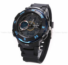 OHSEN Waterproof Digital LCD Alarm Date Mens Military Sport Analog Watch Fast