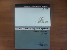 2003 Lexus LS430 LS 430 Owners Owner's Manual with Case