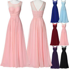 New Long Bridesmaid Dress Prom Gown Ball Formal Evening Party Cocktail Sundress
