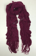 Brand New Ladies Girls Warm Winter Scarf Soft Knit Scarves -7 Colours AU G6318