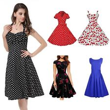 Sexy Women 50s 60s Vintage Rockabilly Swing Pinup Housewife Evening Party Dress