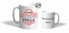 Personalised Vintage Mug Cup & Coaster.Personalise with your own Text-ILV1241