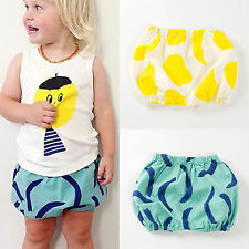 Baby Girls Toddlers Casual Shorts Pants Summer Bloomers Bottoms Kids Clothes