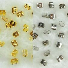 100 PCS 50 Pairs Metal Butterfly Earring Post Nut Plug Back Backing Stopper 5mm