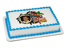 Marvel Comics edible image your photo custom frosting cake topper icing #8374