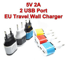 5V 2A Dual USB EU Plug Wall Charger Home Travel Power Adapter For Ipad Phones