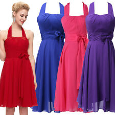 Short Halter Formal Wedding Party Prom Dress Bridesmaid Evening Cocktail Dresses