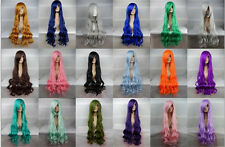 Party Fashion Sexy Cosplay Wig Wavy Curly Colors Full Hair Long Wig 100CM/39""
