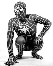 Cos Black Lycra Spandex Leotard Spiderman Suit Peter Benjamin Zentai Costumes