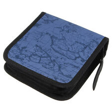 B3 40 Disc Fashion Map CD DVD Storage Holder Sleeve Case Box Wallet Bag