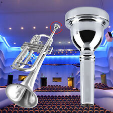 Trumpet Mouthpiece for Bach 7C Size Silver Plated Musical Instrument New BG