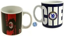Jumbo Ceramic Soccer Mugs Club AC MILAN & CHELSEA European Football Fans Gift