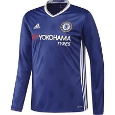 adidas Chelsea FC 2016 - 2017 L/S Home Soccer Jersey Brand New Royal Blue