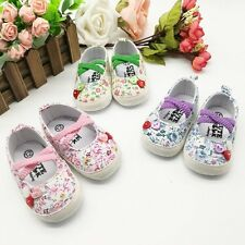 0-18M Cute Infants Toddlers Soft Sole Crib Shoes Baby Shoelace Slip-On Prewalker
