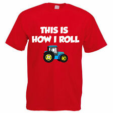 THIS IS HOW I ROLL - Farmer / Farming / Tractor / Funny Gift Idea Mens T-Shirt