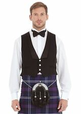 Mens New 3 Button Prince Charlie Waistcoat Various Sizes 100% Wool