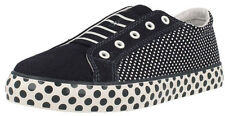 Clarks BRILL LACE Girls Navy Fashion Canvas Shoes UK 13 - 2.5 Jun F & G Fitting