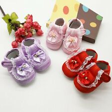 0~18M Kids Infant Baby Boots Girls Lace Soft Sole Crib Shoes Toddler Prewalker