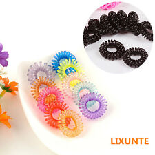 10PCS Women Girl Small Elastic Rubber Hair Band Rope Tie Hair Ponytail Holder XT