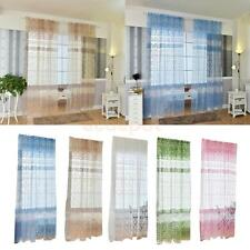 Window Curtain Glass Yarn Voile Drape Panel Tulle Scarf Valance Sheer Divider
