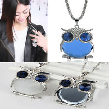 Women Fashion Owl Rhinestone Pendant Long Chain Necklace Best Gift For XMAS