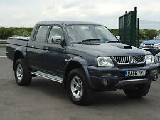 MITSUBISHI L200 TROJAN 2.5TD CREW CAB PICK-UP IN GREY. AIR CON. LEATHER SEATS.
