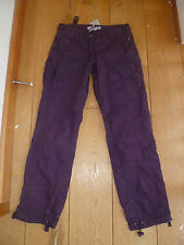 FAT FACE PURPLE GRAPE WILLOW UTILITY TROUSERS COMBAT CARGO UK 6 S R L BNWT