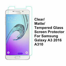 Clear/Matte/Tempered Glass Screen Protector For Samsung Galaxy A3100 A3 (2016)
