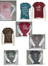 NWT AEROPOSTALE Long Sleeved 2fer shirt  thermal sleeves 8 diff graphics