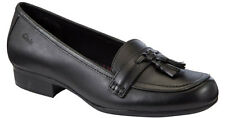 Clarks Bootleg ORIEL PINE Older Girls Black Leather School Shoes 3 - 6.5 FG Fit