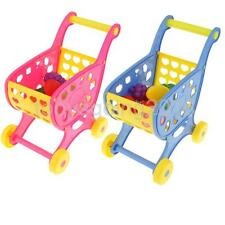 Kids Children Supermarket Shopping Trolley Cart Basket Gifts Practical Toys New