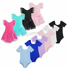 Kids Girls Ballet Dress/Tutu Leotard Skirt Dance Gymnastics Fancy Costume 2-14Y