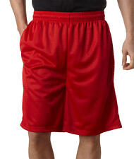 A4 Adult Red Mesh Shorts