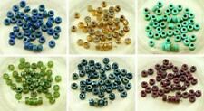 60pcs Picasso Czech Glass Large Hole Pony Beads 6mm