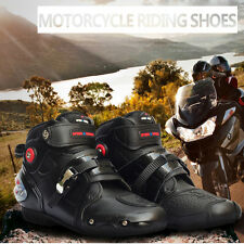 Mens Motorcycle Boots Motocross Dirt Bike Racing Boots Waterproof Leather Shoes